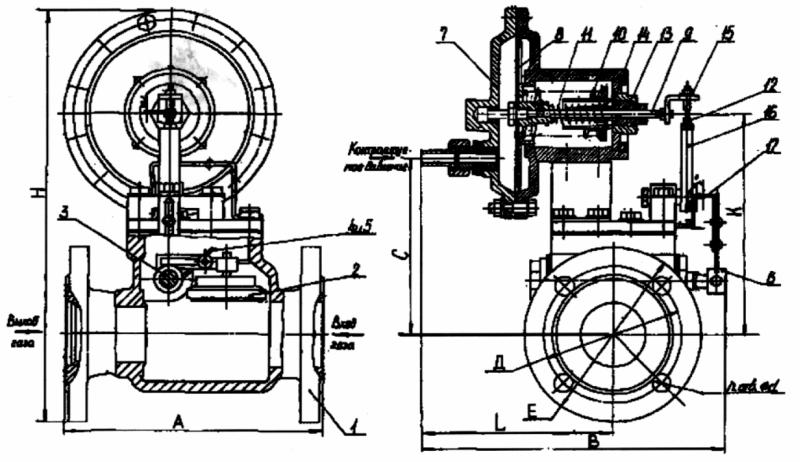 Мембрана механизма контроля давления КПЗ-50-05-05-02